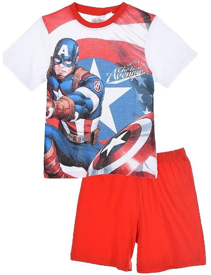 Avengers marvel captain america červené chlapčenské pyžamo vel. 116