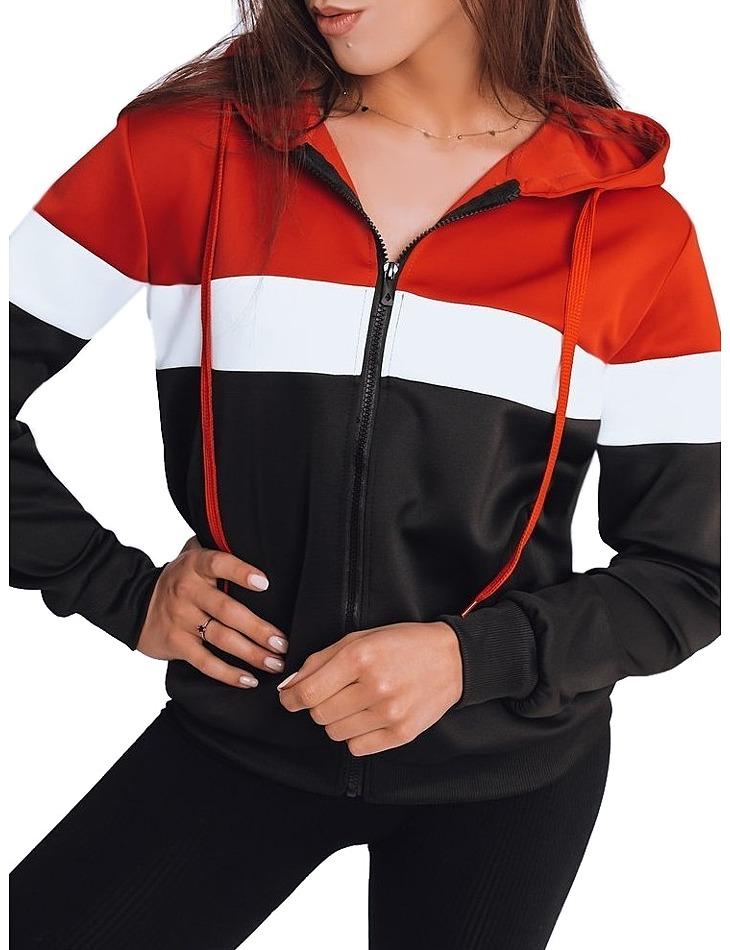 červeno-bielo-čierna mikina Derly vel. XL