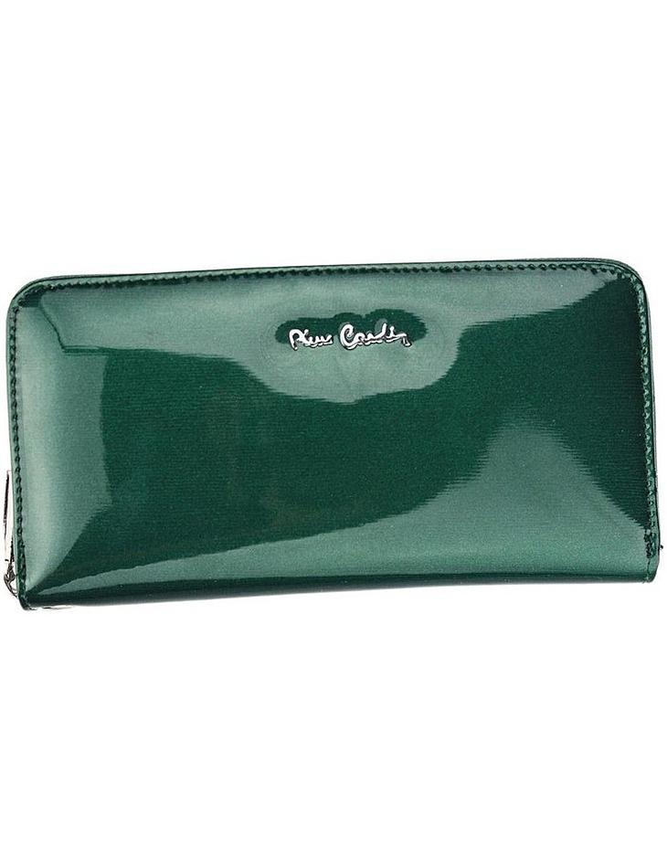 Pierre cardin zelená dlhá peňaženka s pútkom 05 line vel. ONE SIZE