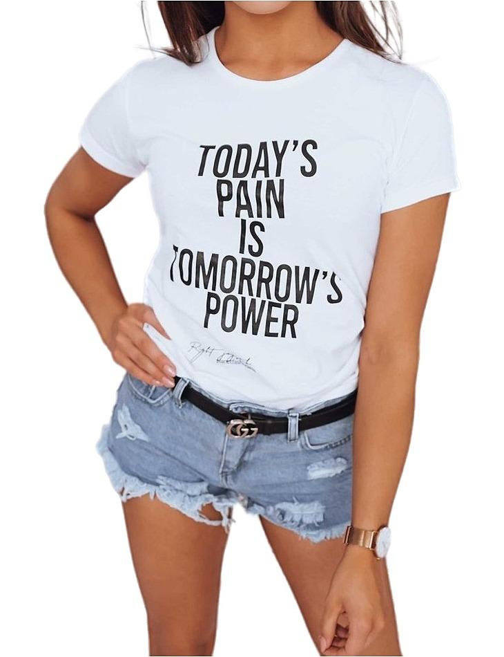 Biele dámske tričko power vel. L
