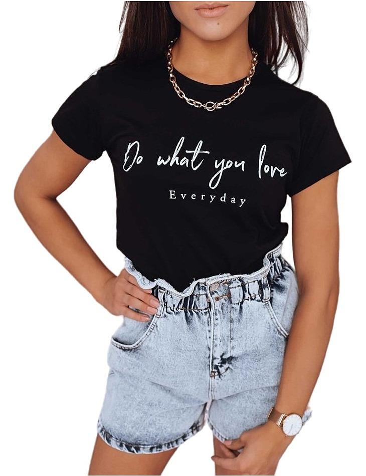 čierne dámske tričko everyday vel. L
