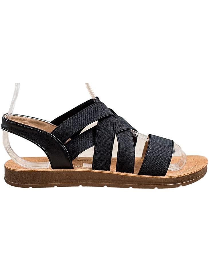 čierne nazúvacie sandálky vel. 38