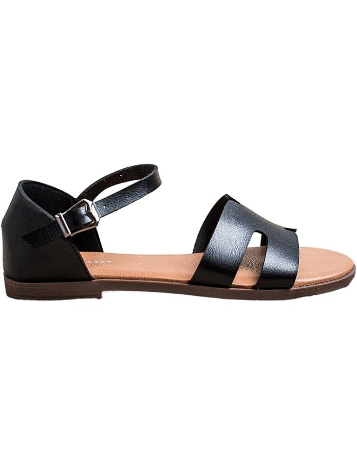 čierne Eleganntý sandálky vel. 38