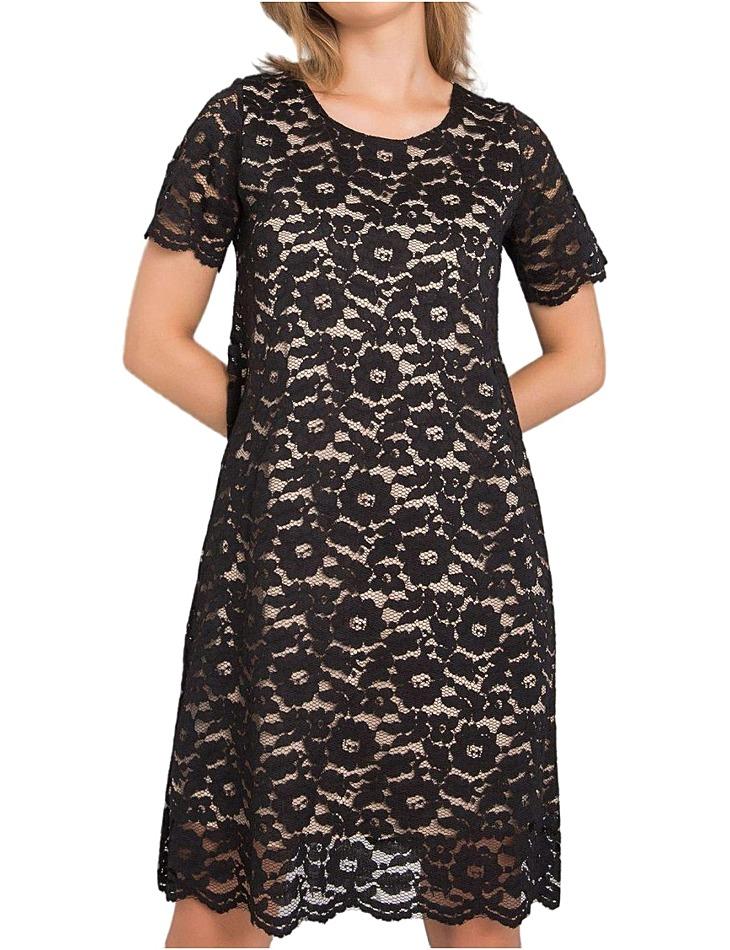 čierne čipkované šaty lulu vel. 36