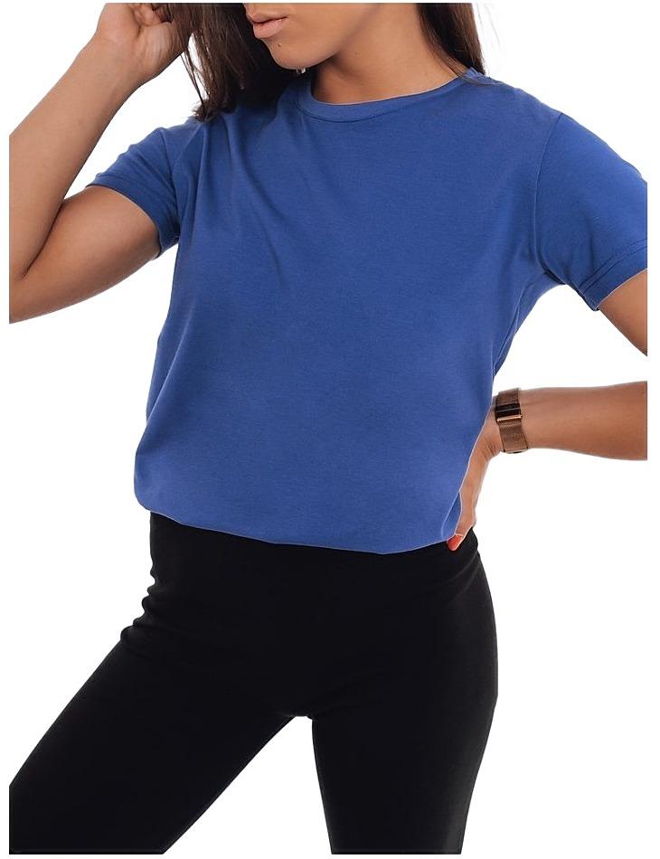 Modré dámske basic tričko Mayle vel. 2XL