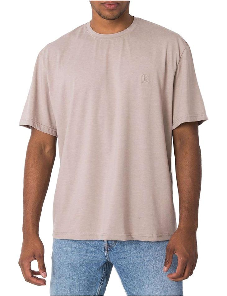 Béžové pánske basic tričko vel. L