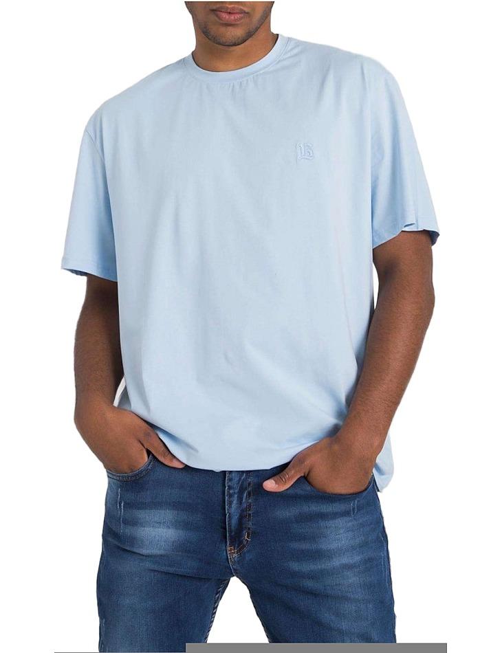 Svetlomodré pánske basic tričko vel. L