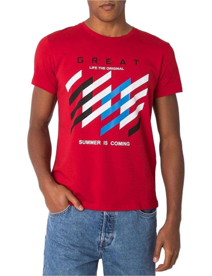 Bordó pánske tričko s potlačou vel. 2XL