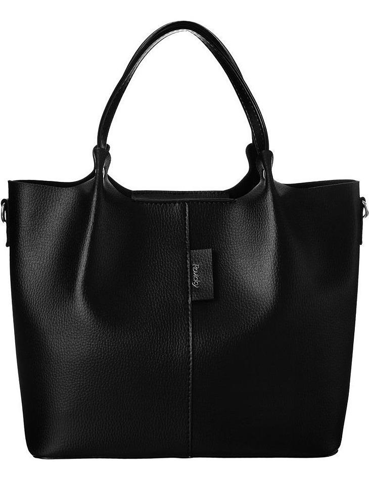 čierna shopper kabelka rovicky s kozmetickou taštičkou vel. ONE SIZE