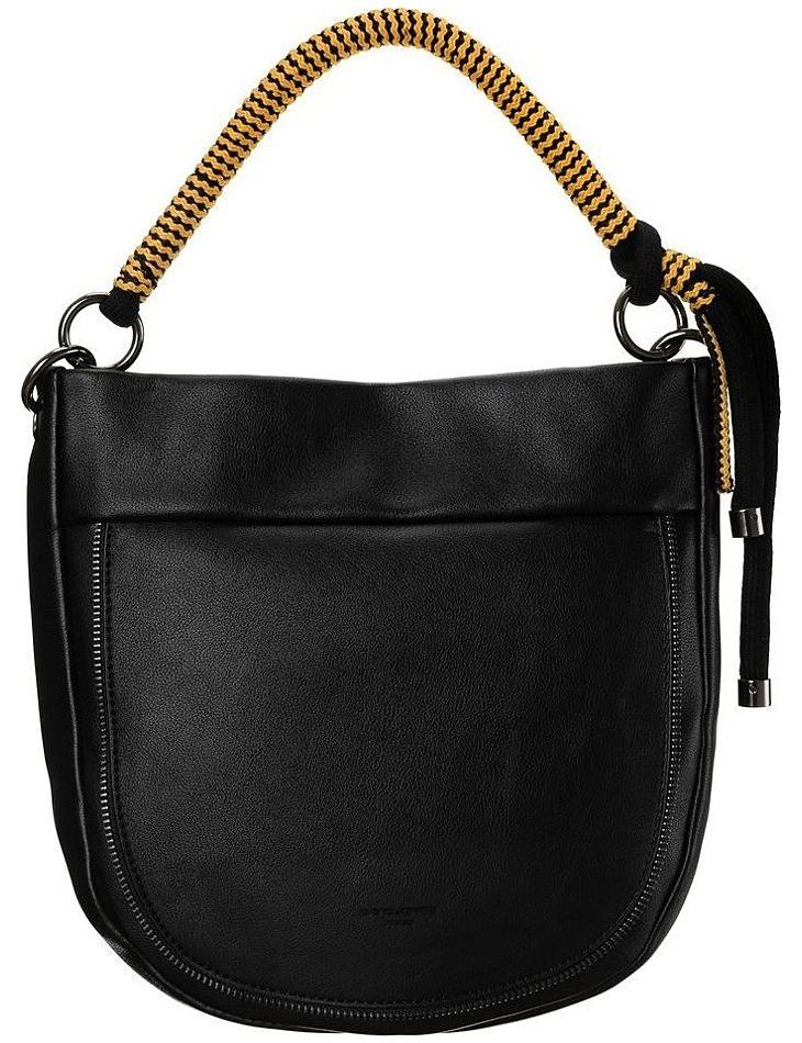 čierna kabelka s pletenou rukoväťou david jones vel. ONE SIZE