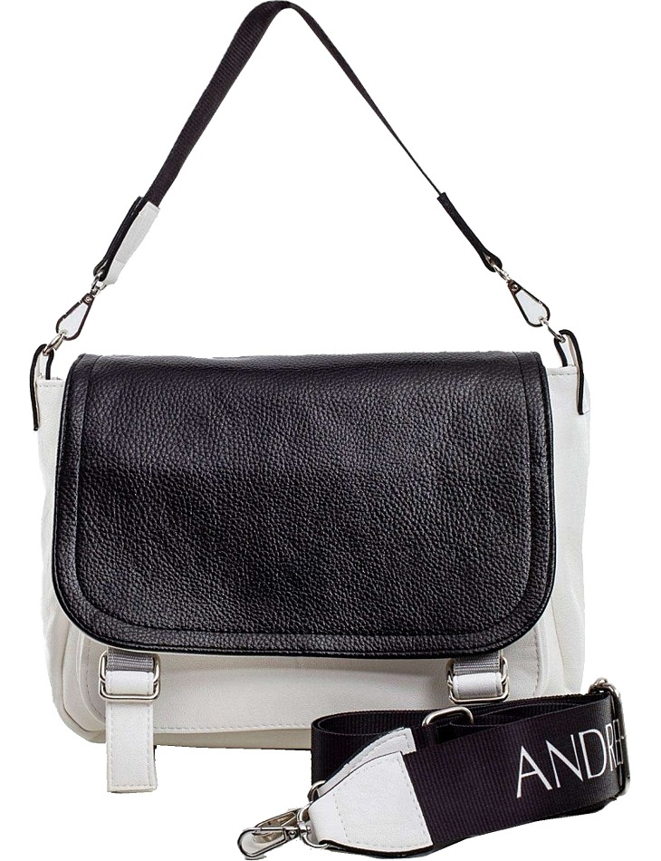 Bielo-čierna crossbody kabelka vel. ONE SIZE