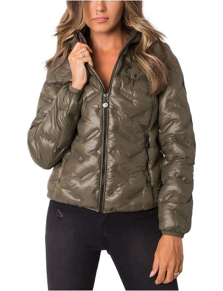 Khaki dámska krátka zimná bunda vel. 2XL