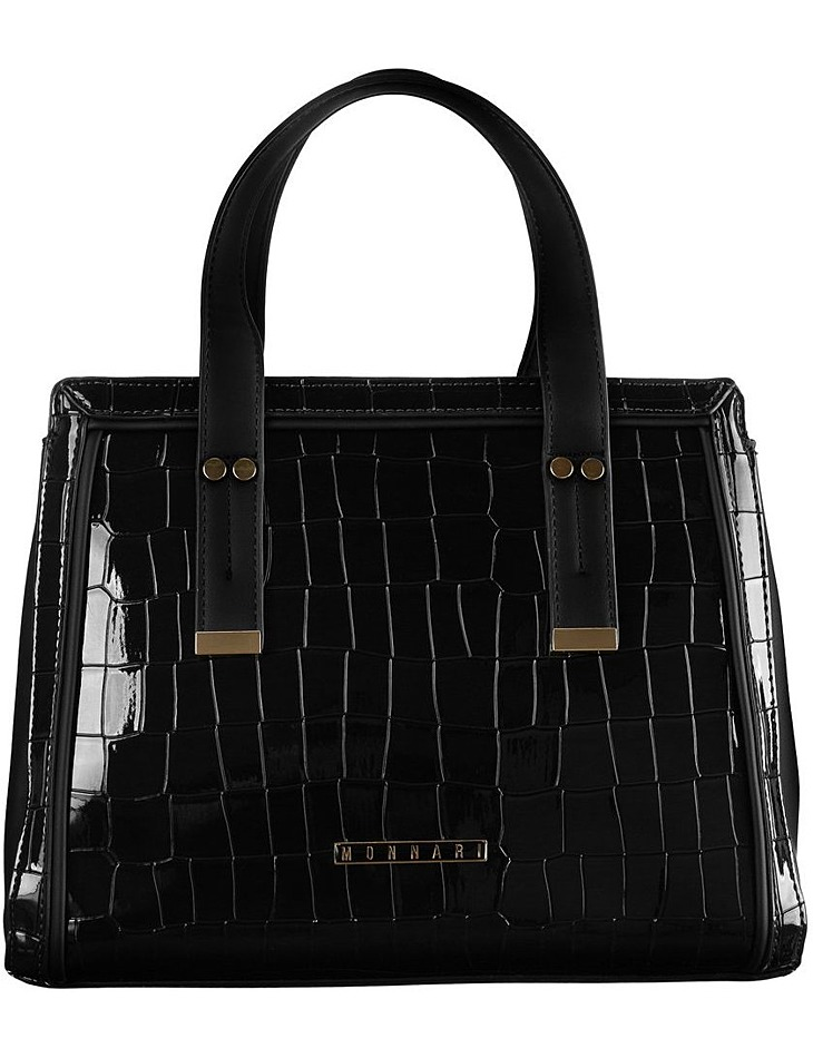 čierna lakovaná kabelka monnari vel. ONE SIZE
