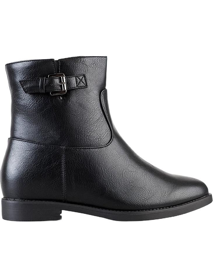čierne členkové topánky na nízkom kline vel. 36