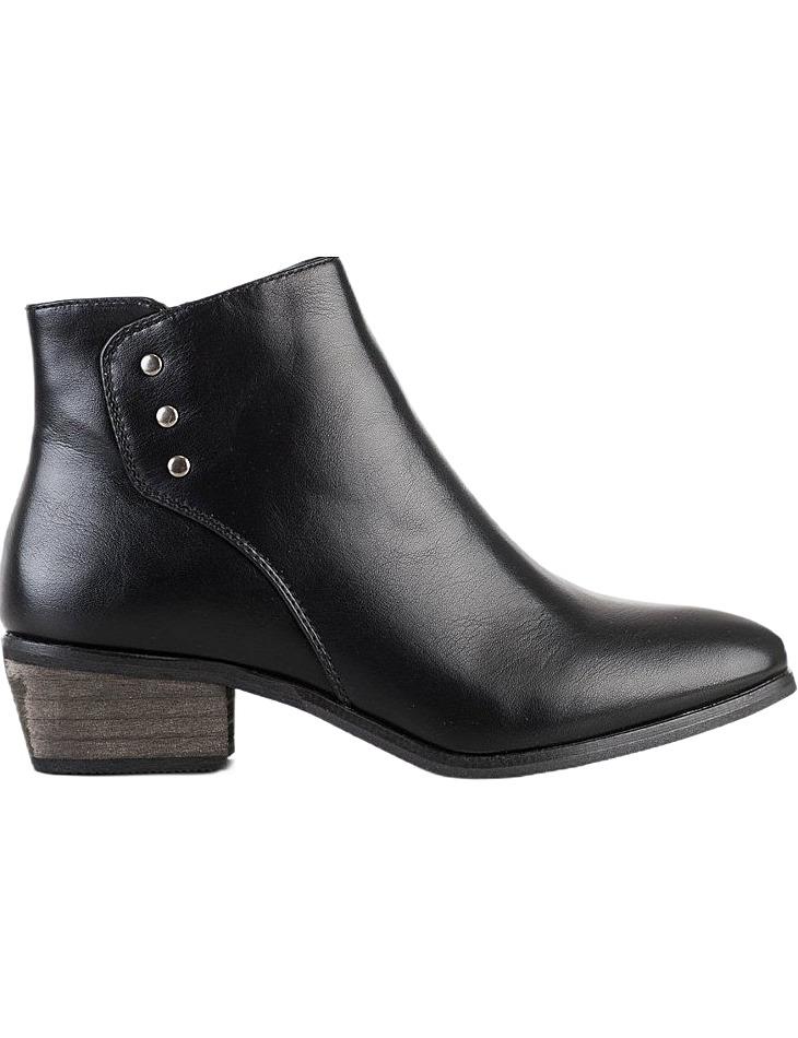 čierne členkové topánky na nízkom stĺpiku vel. 36