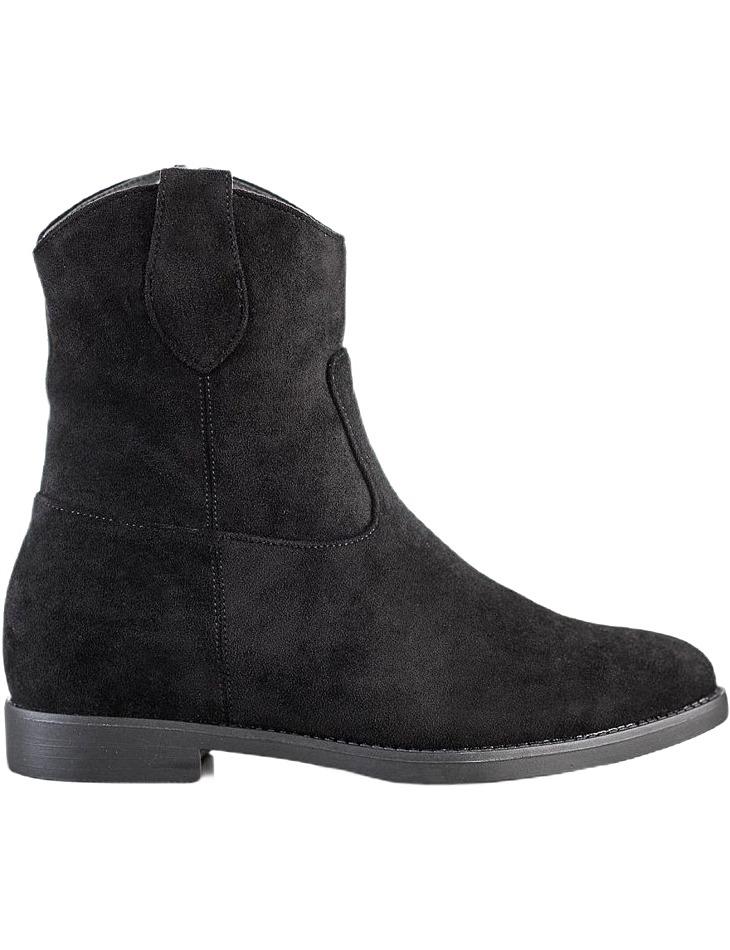 čierne členkové topánky na kline vel. 39