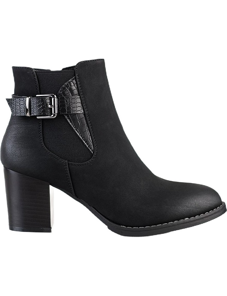 čierne členkové topánky na stĺpiku vel. 39
