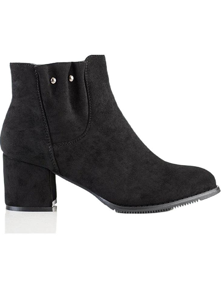 čierne semišové členkové topánky vel. 39
