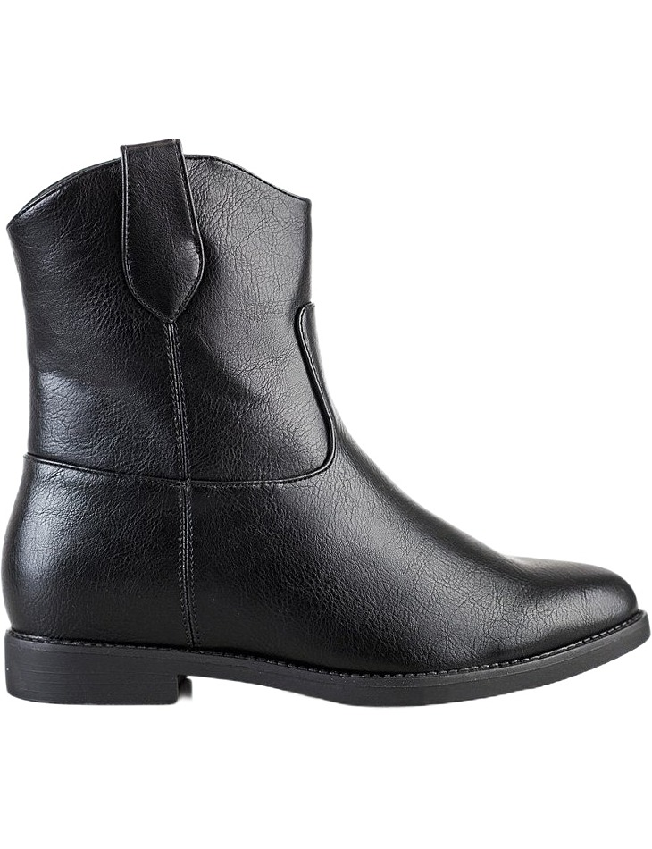 čierne kovbojky na kline vel. 39