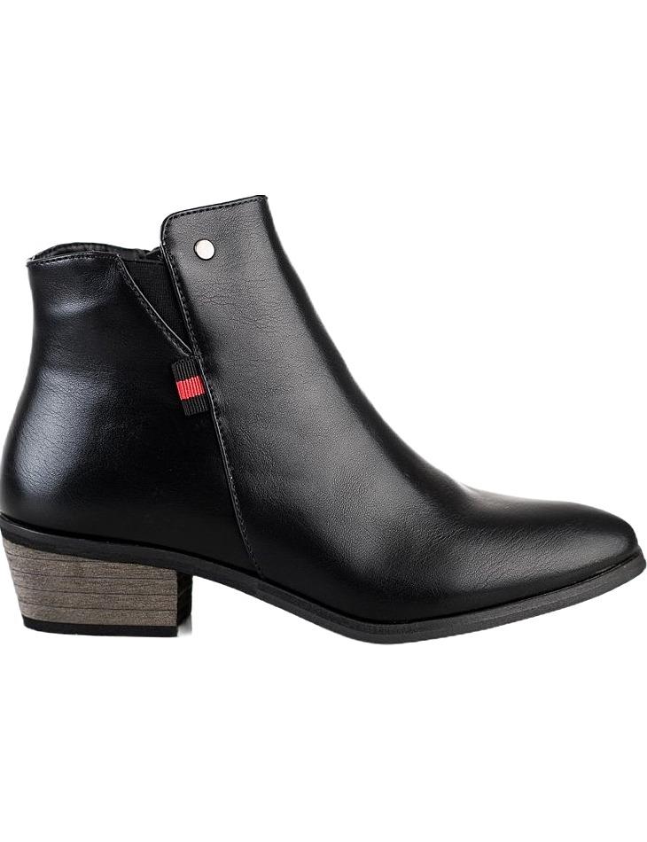 čierne členkové topánky na nízkom podpätku vel. 36