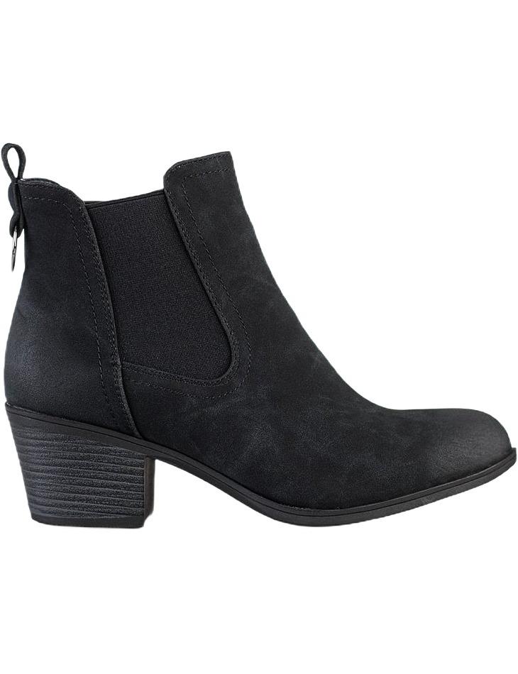 čierne členkové topánky na nízkom stĺpiku vel. 39