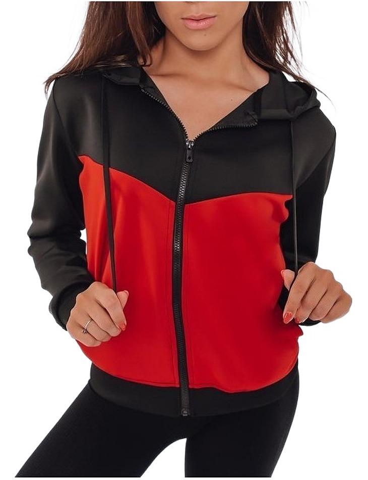 čierno-červená mikina mally vel. XL