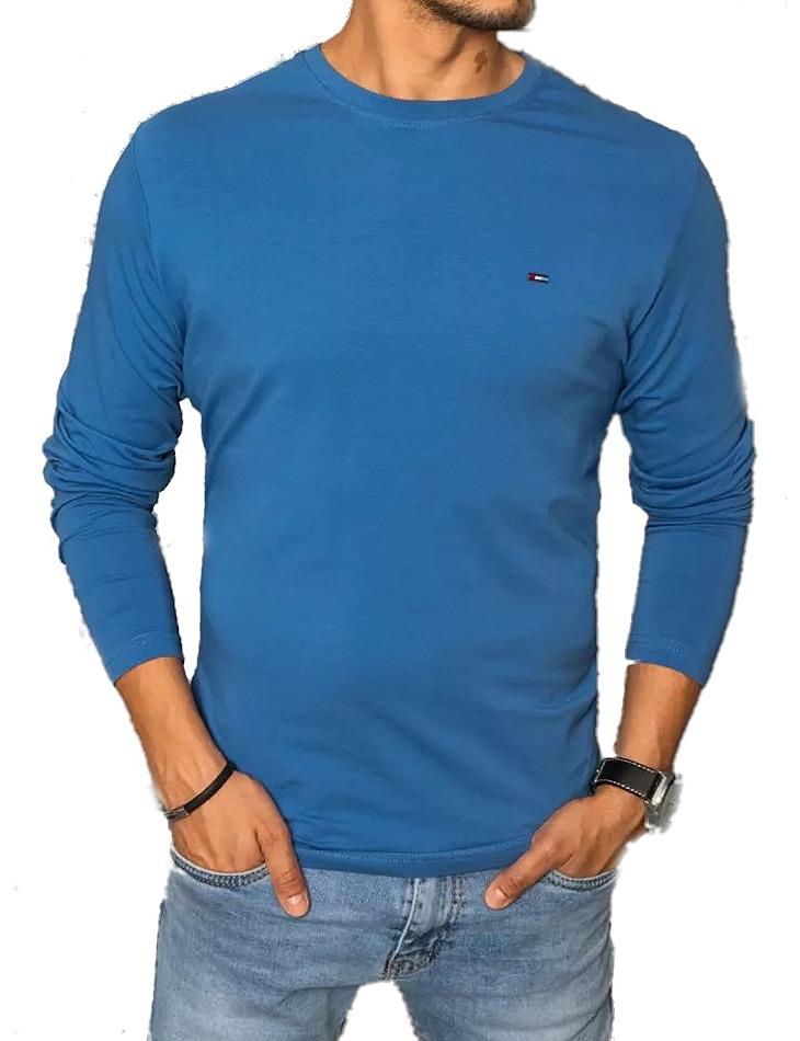 Modré tričko s dlhým rukávom vel. 2XL