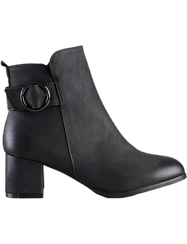 čierne casualové členkové topánky na podpätku vel. 36