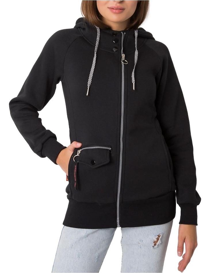 čierna dámska mikina na zips vel. XL