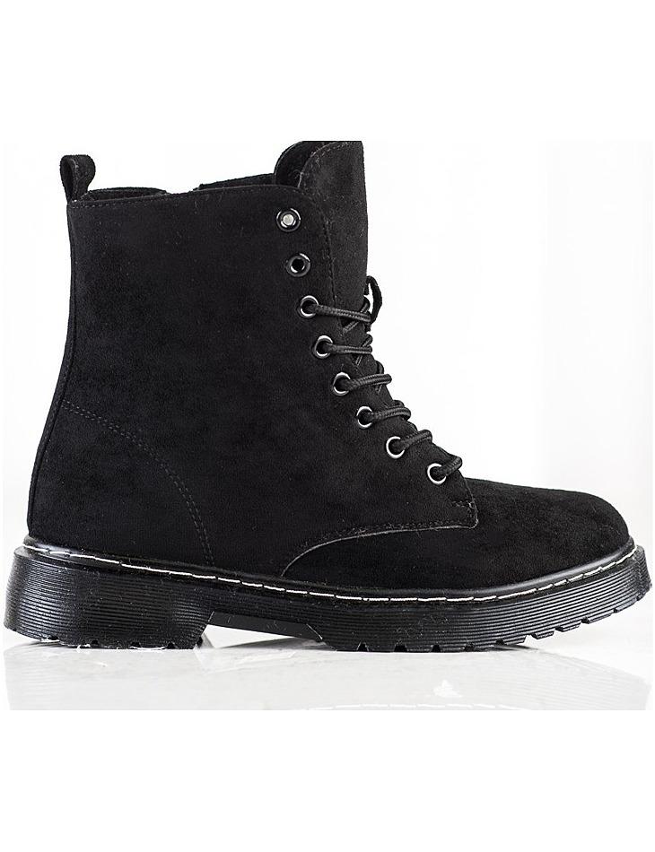 čierne semišové zateplené topánky vel. 36