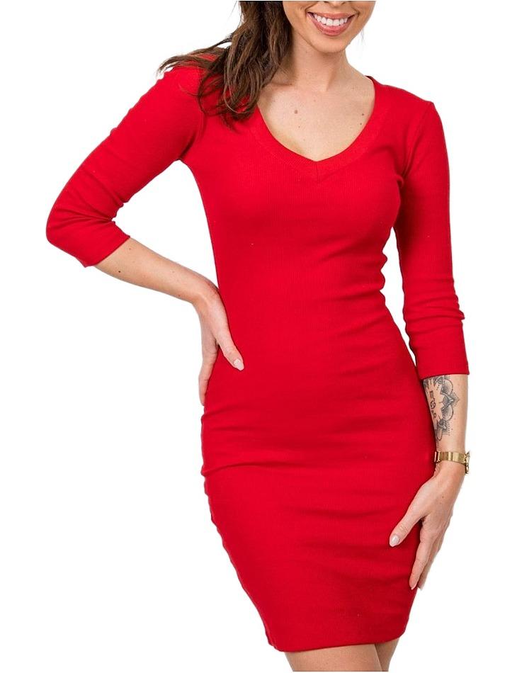 Dámske červené šaty vel. L
