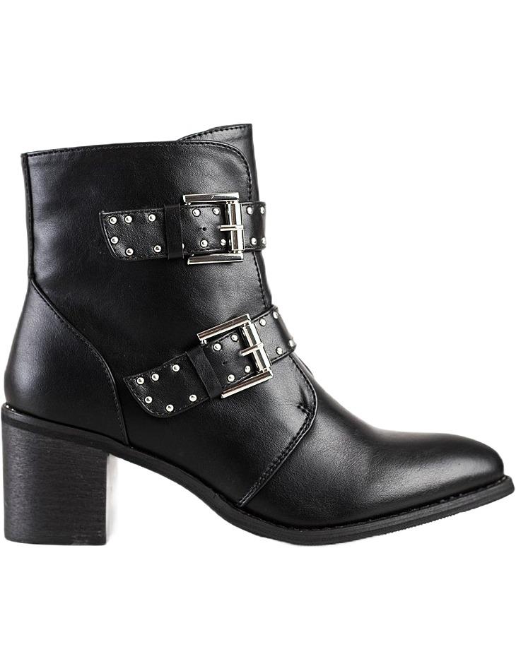 čierne rockovej topánky na podpätku vel. 40