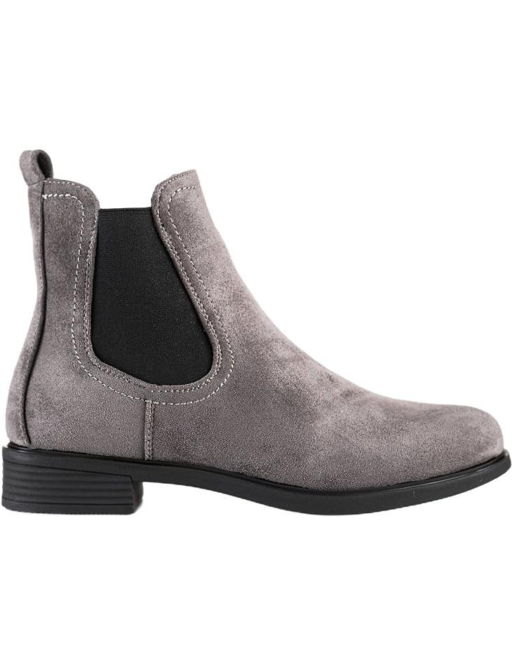 sivé semišové členkové topánky vel. 40
