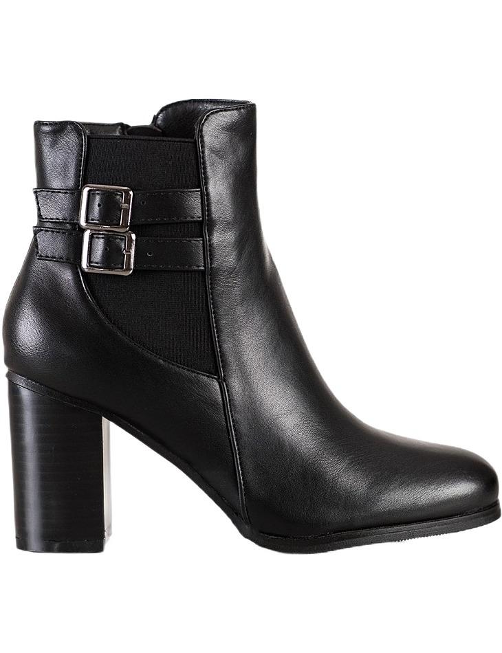 čierne členkové topánky na podpätku vel. 40