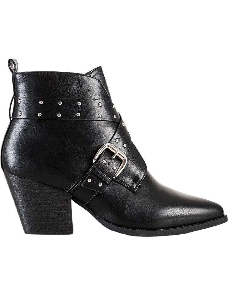 čierne členkové topánky na stĺpiku vel. 37