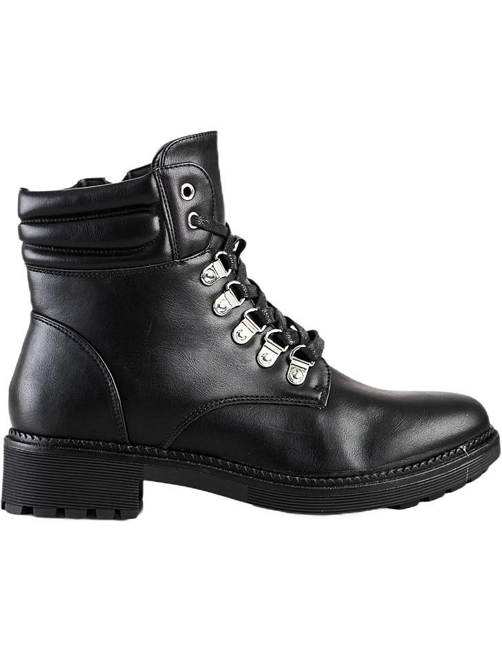 čierne casualové šnurovacie členkové topánky vel. 39