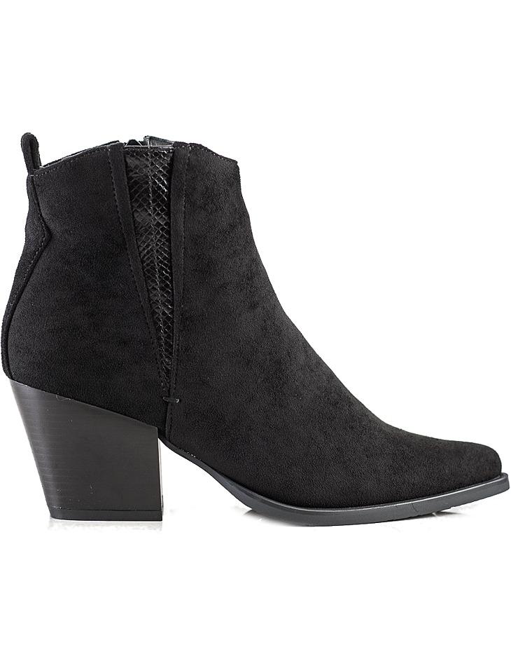 čierne semišové členkové topánky do špičky vel. 39
