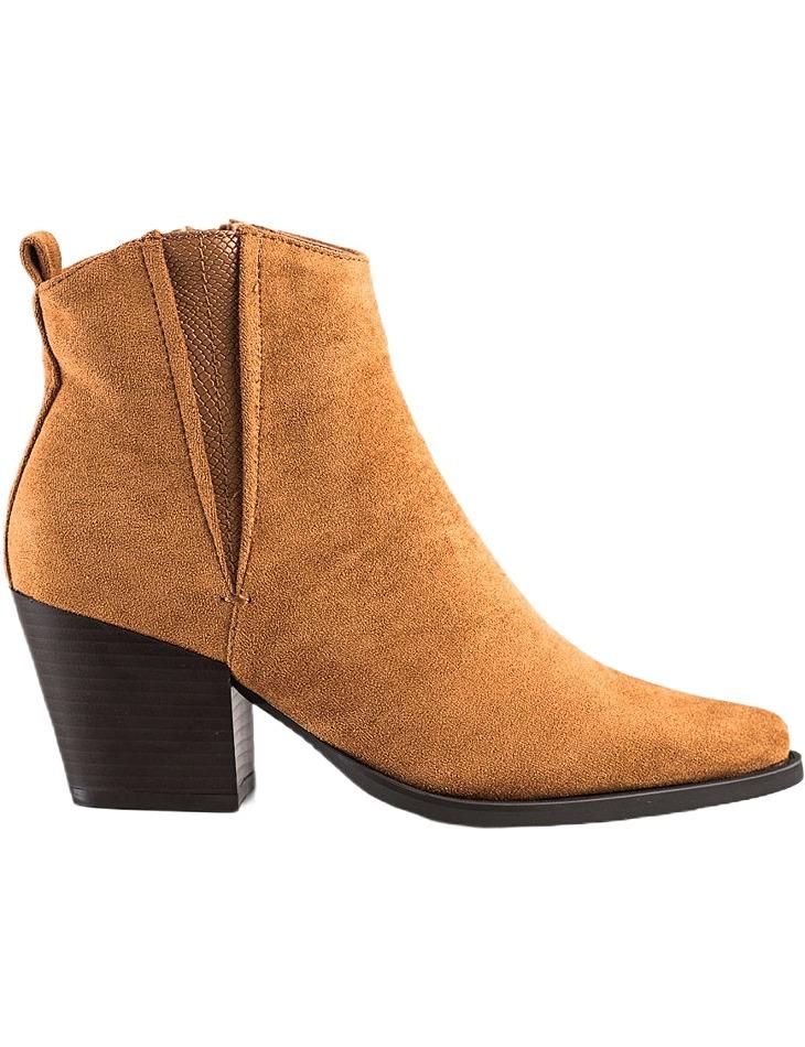 Hnedé semišové členkové topánky do špičky vel. 39