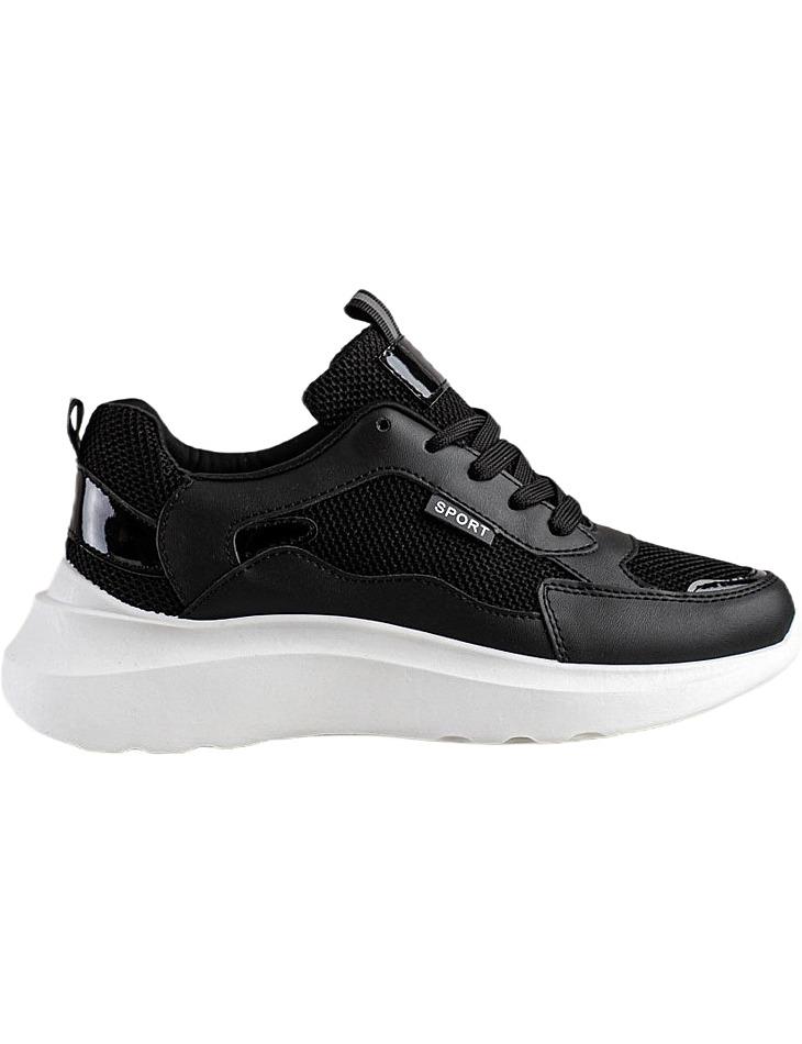 čierne športové topánky na platforme vel. 36