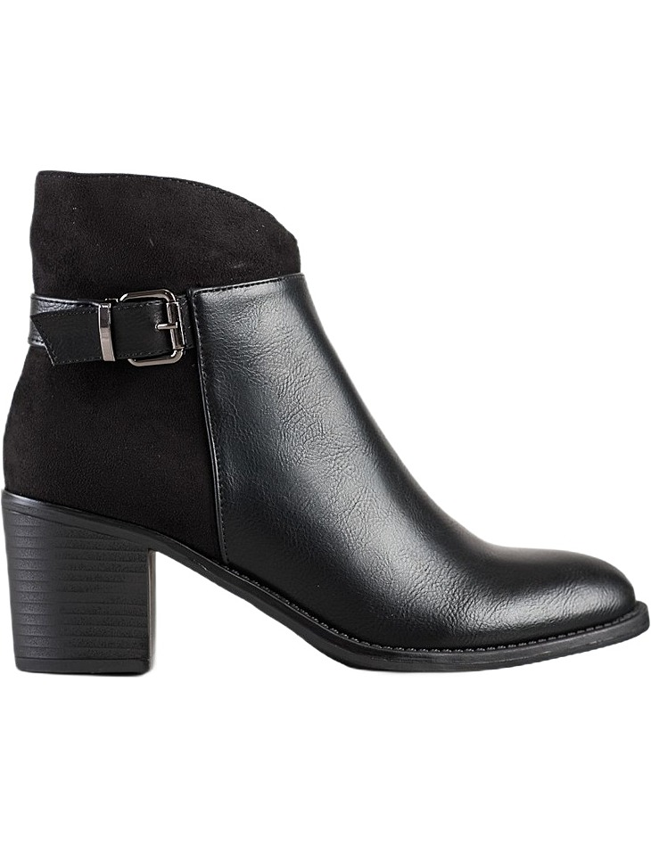 čierne členkové topánky na stĺpiku vel. 36