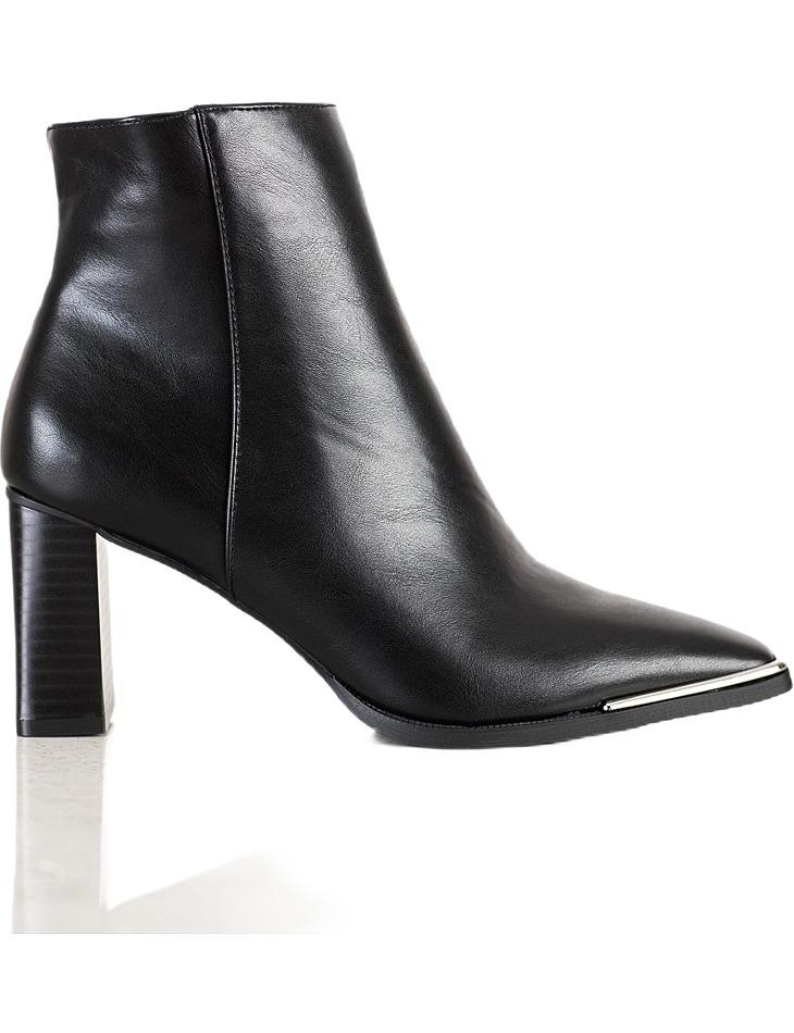 čierne elegantné topánky na stĺpiku vel. 36