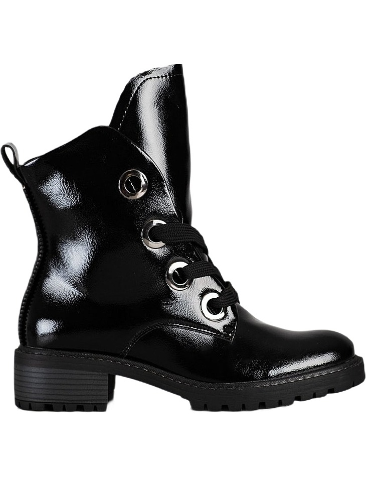 čierne členkové šnurovacie topánky vel. 37