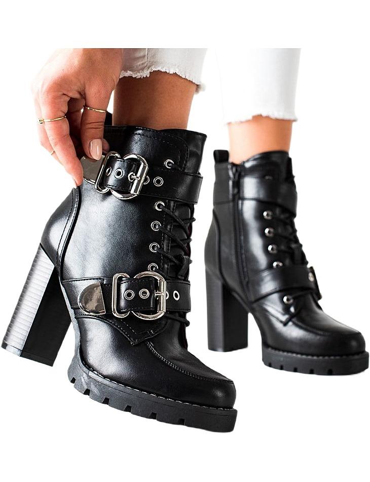 čierne topánky na vysokom stĺpiku vel. 36
