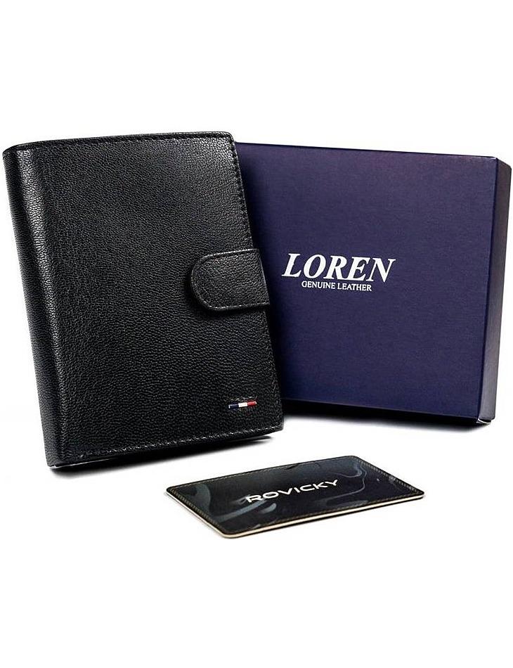 Pánska čierna peňaženka na patentku loren vel. ONE SIZE