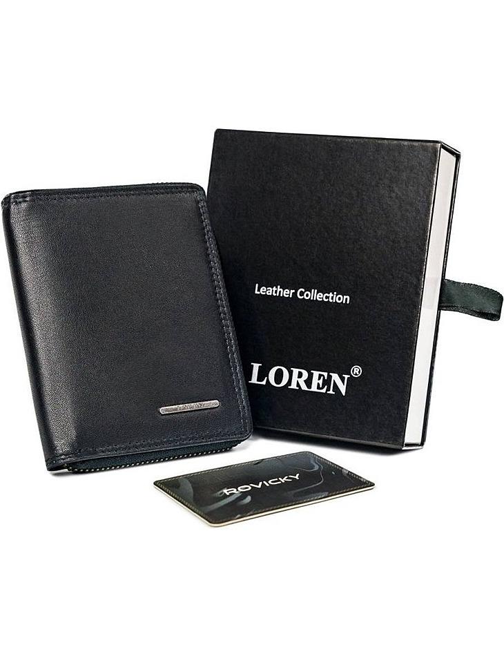 čierna pánska peňaženka na zips loren vel. ONE SIZE