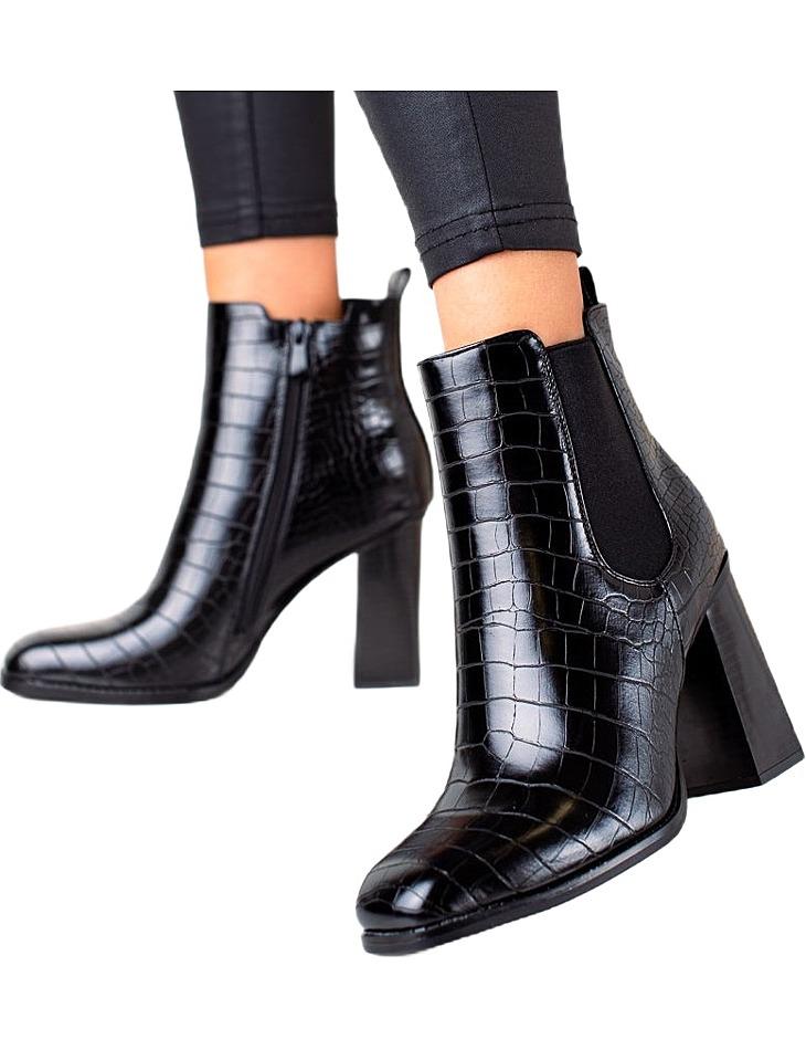 čierne klasické členkové topánky vel. 36